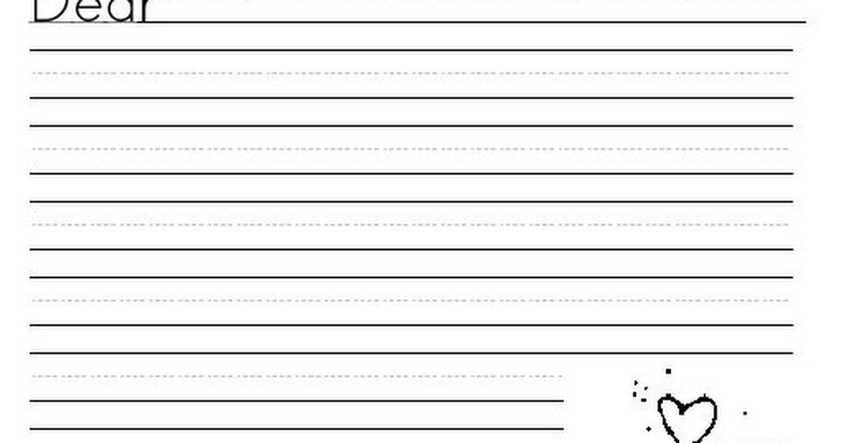 Letter stationary.pdf Second grade writing, 2nd grade