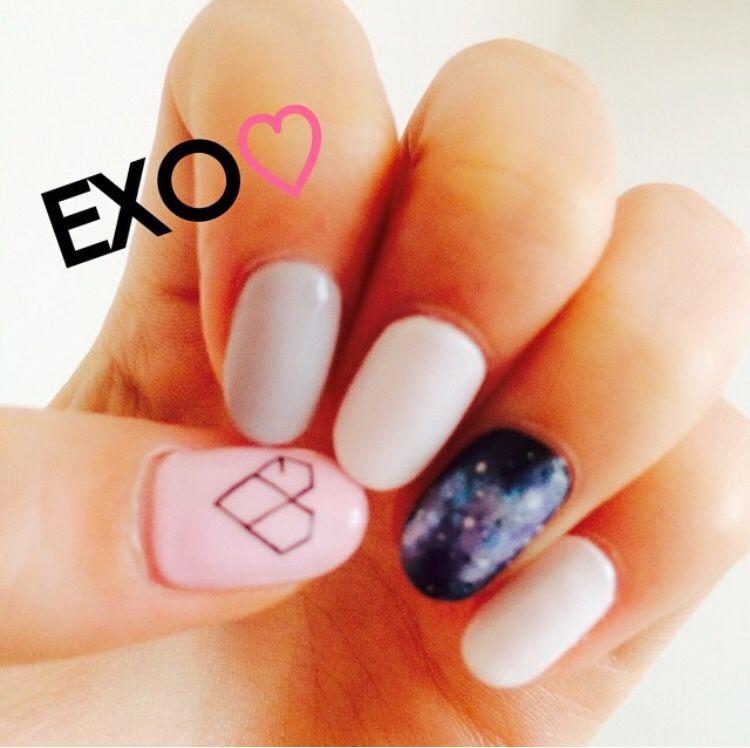 EXO nail art 엑소 네일아트 | Hands | Pinterest | Manicure, Kawaii ...