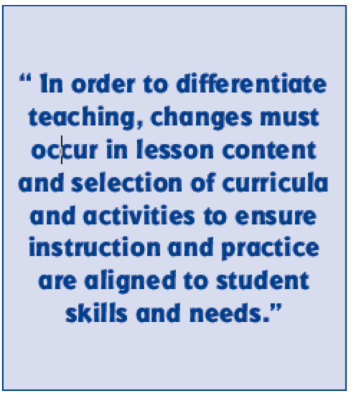 Differentiated Instruction Making It Happen In The Classroom Https