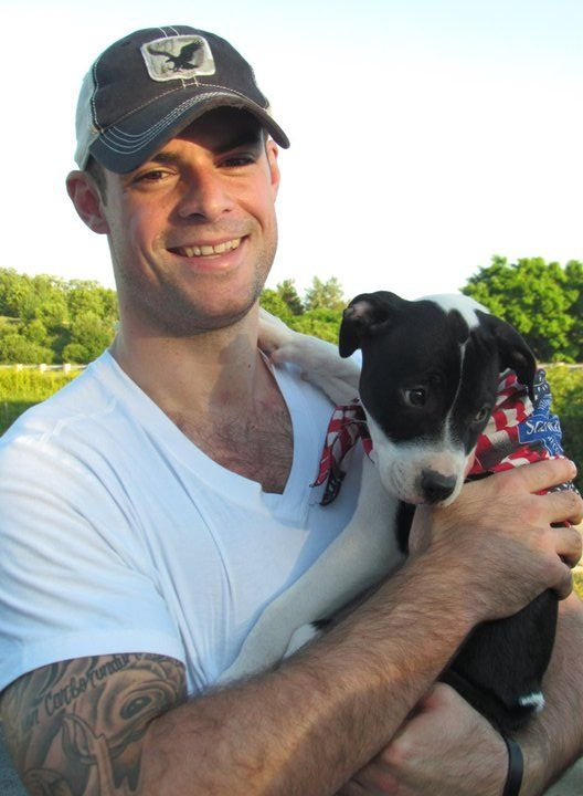 Hockey Players With Pets And Other Animals Pitbull Puppies Man And Dog Hockey Players