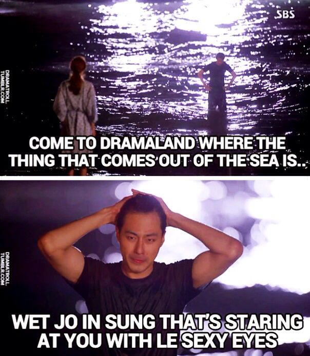 Jo In Sung in Slow Mo getting out of the water... his hair... that stare ... *HEAVY BREATHING* ♥ - It's ok, it's love♡