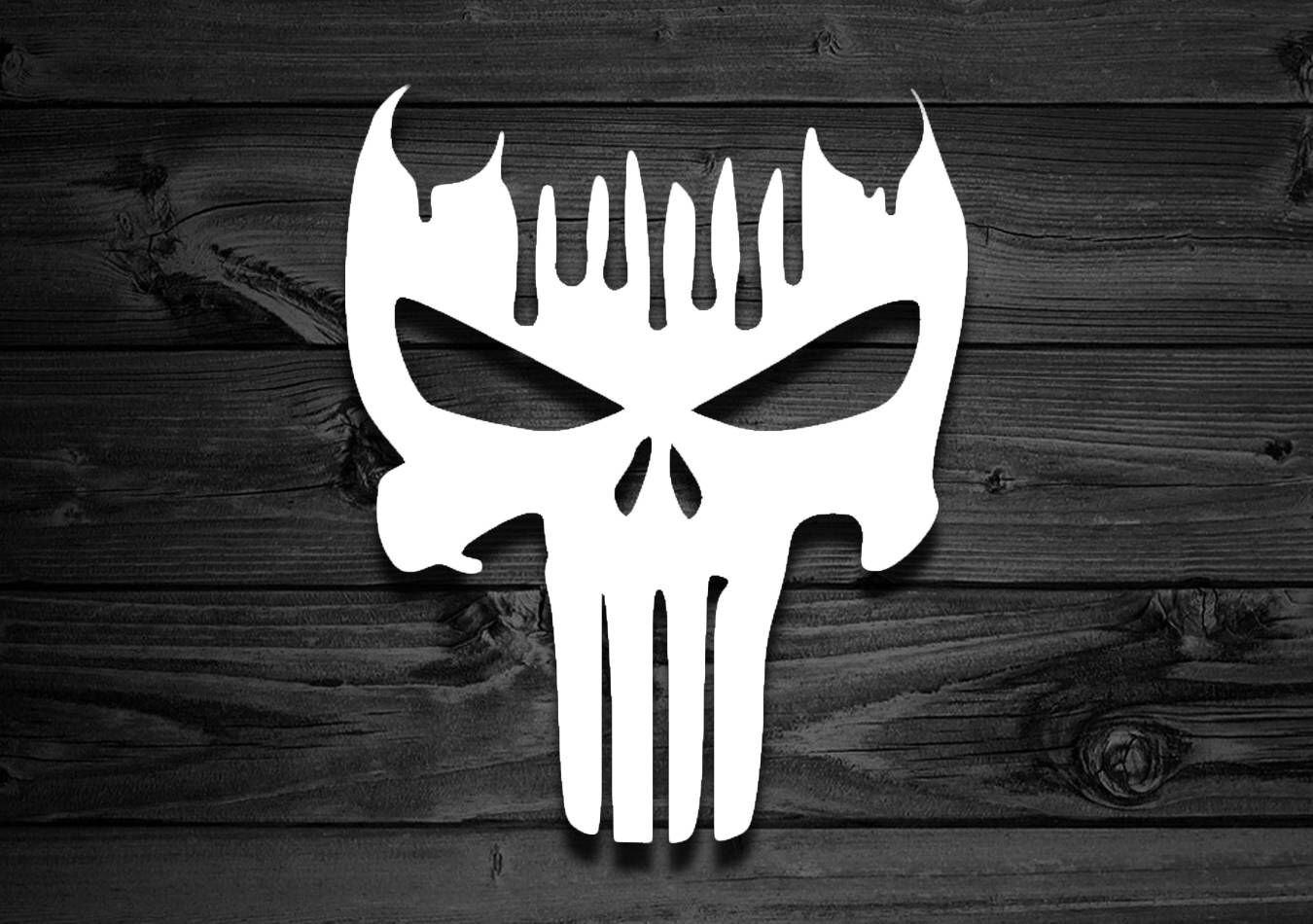 Lady Bow Skull Punisher Decal Sticker Wall Car Cup Laptop Free Shipping