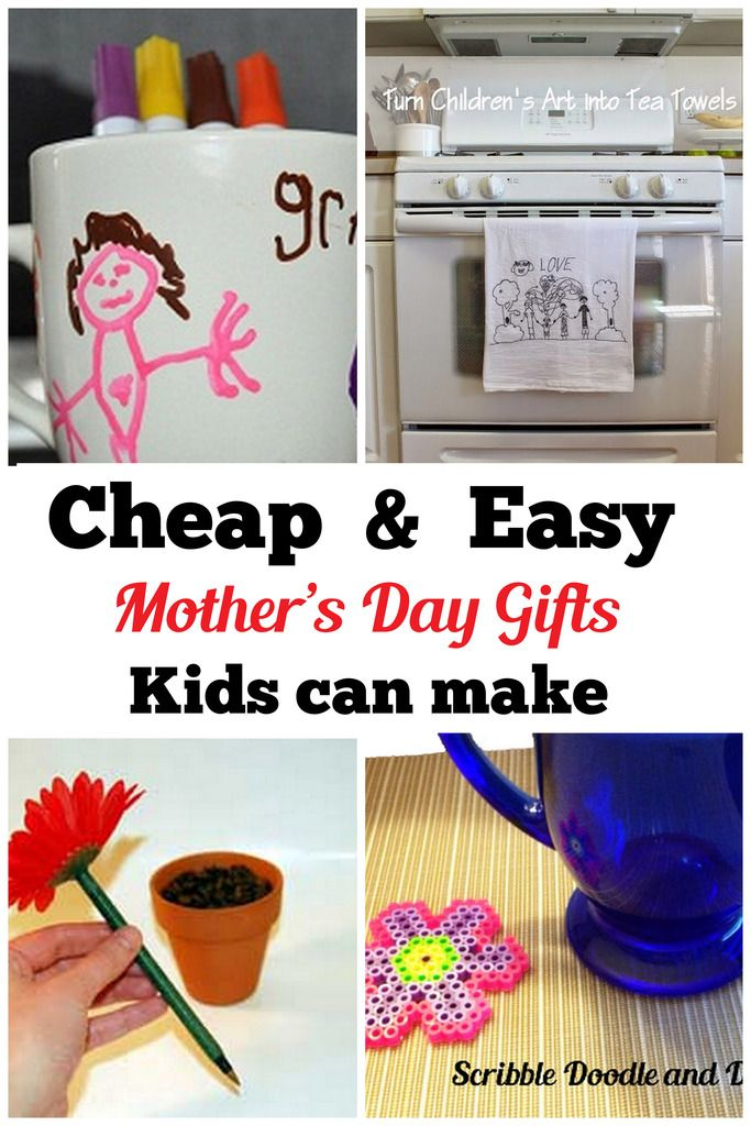 Cheap and easy Mother's day gifts kids can make | Gifted ...