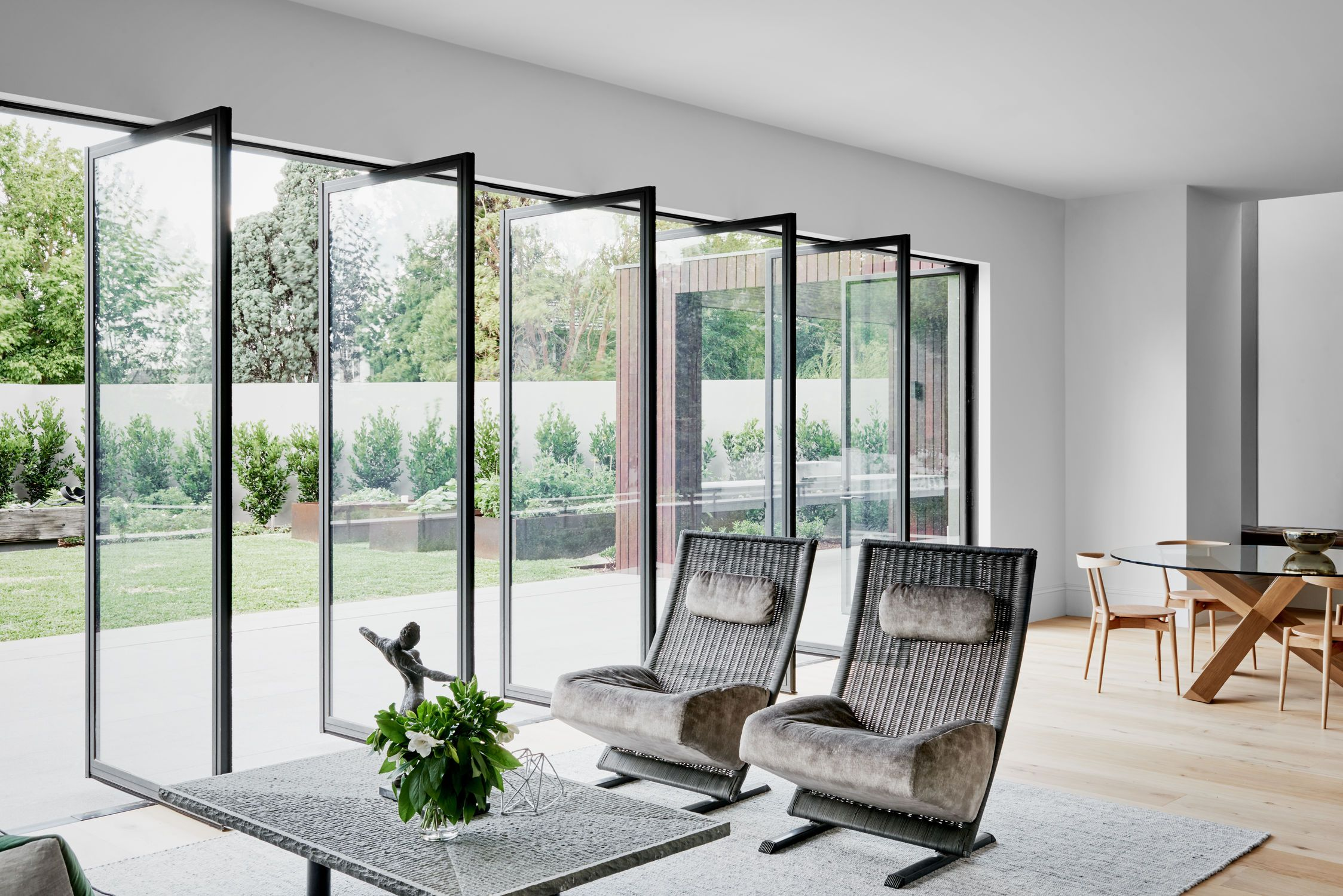 Robson Rak Architects - #Livingroom #Windowwall #Movablewall Pivot Doorssliding