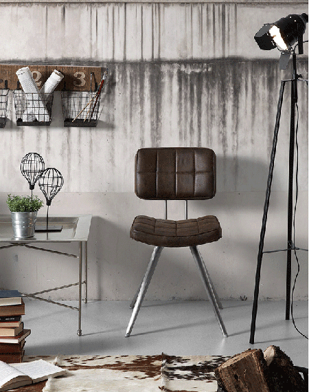 Un rinc n de lectura de aire industrial get the look for Sillas para lectura