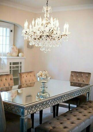 Mesa sala de janta espelhado perfeita!
