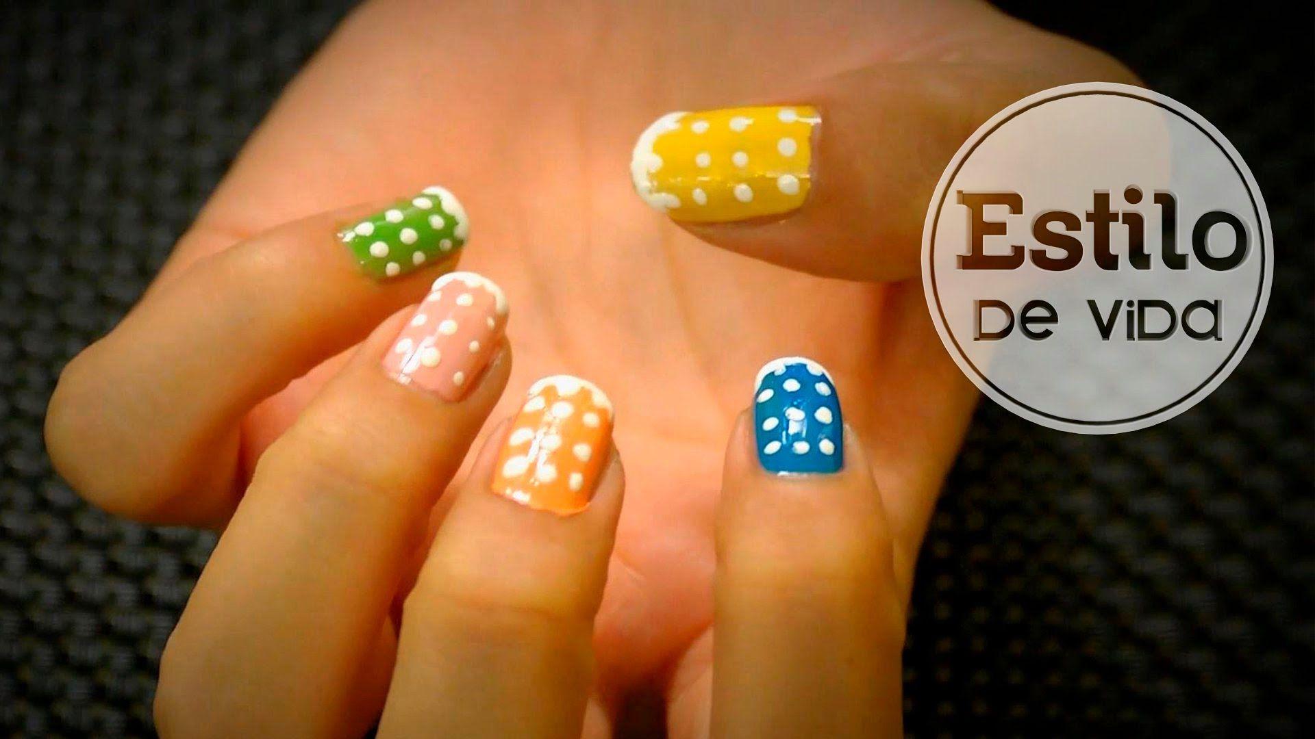 Decoración de uñas de invierno #facil #nailArt #nieve #manicura ...