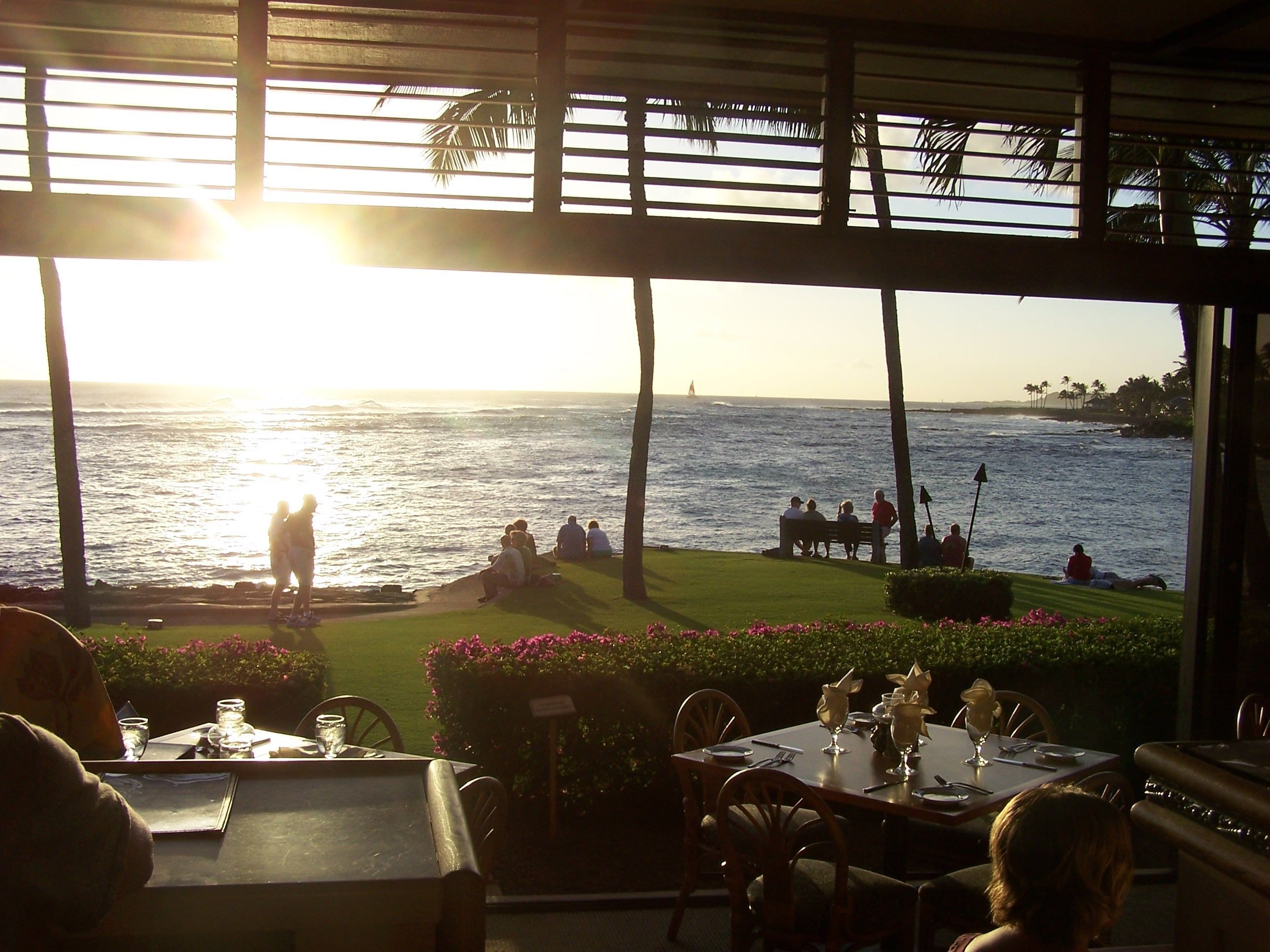 Sunset Filmed In The Bar At Beach House Restaurant Poipu Kauai