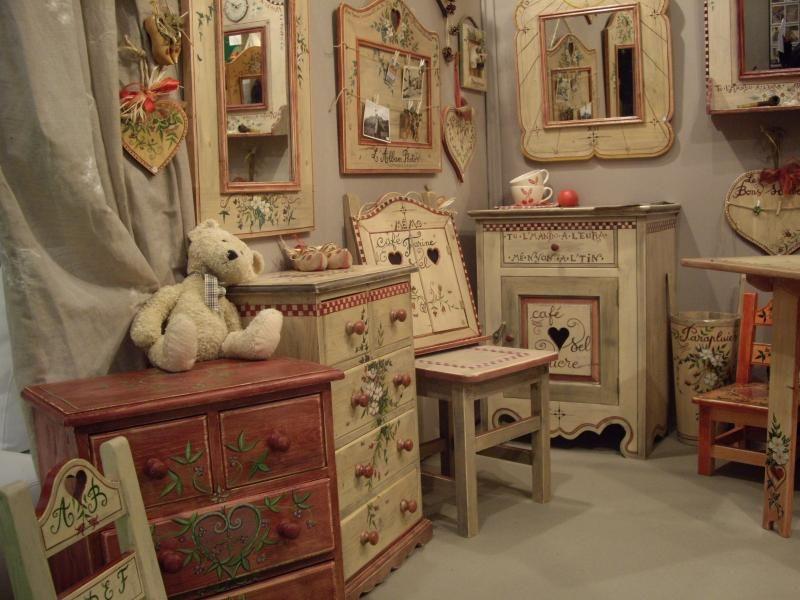мебель с росписью, декор интерьера