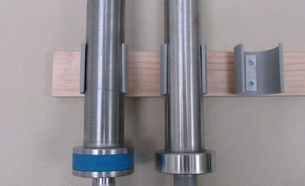 Space saving diy barbell rack bar storage diy bar bar and gym close up of my diy bar rack solutioingenieria Image collections