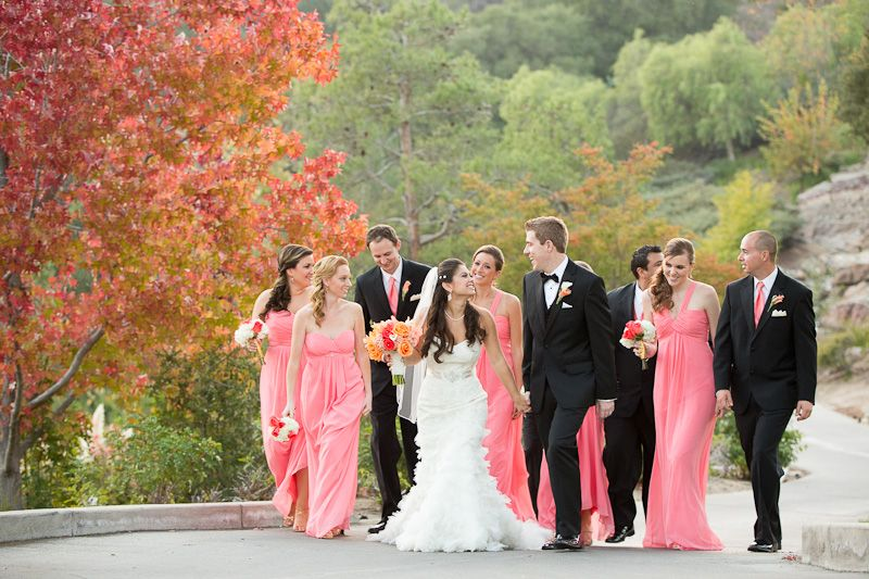Alexandra and Phil's Dove Canyon Country Club Wedding...luv the color in this shot