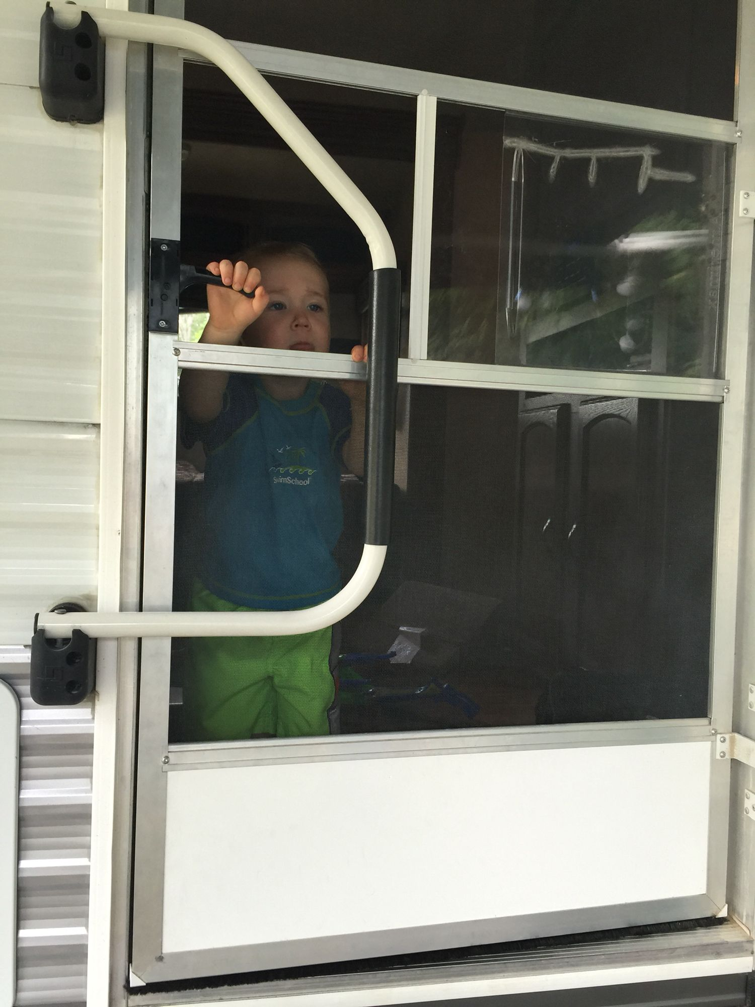Rv Baby Gate If Kids Are Playing Inside The Camper Put The Door