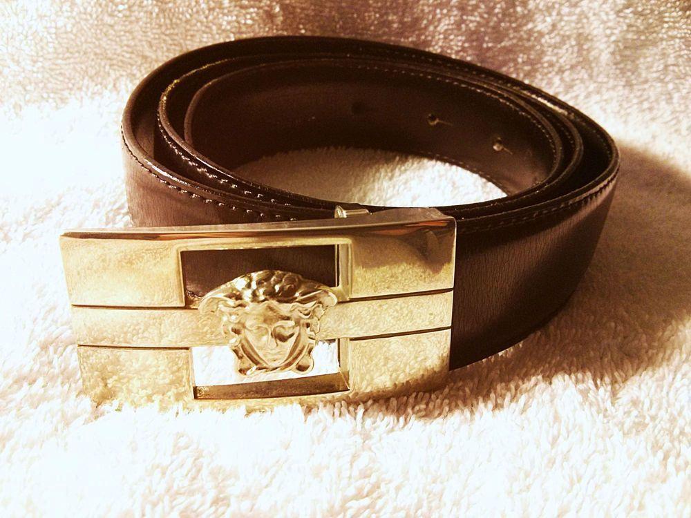 64912f3d $700 VERSACE Belt - Black, Mens Classic Medusa Buckle, Italy, FREE ...