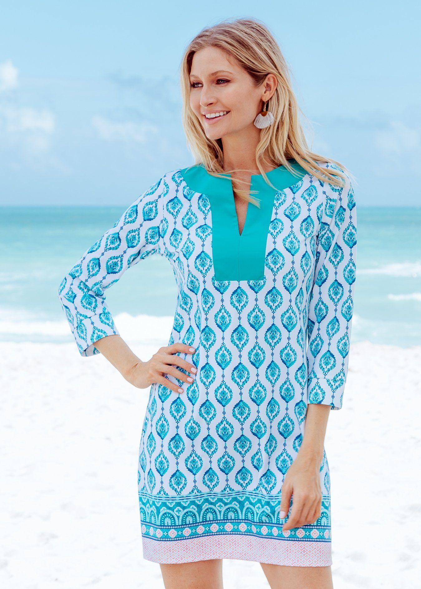 Santorini tunic dress in 2020 upf clothing clothes