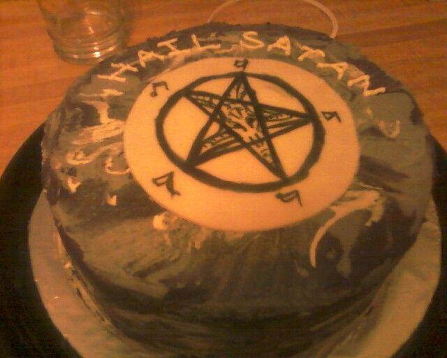 Satanic Marble Birthday Cake Ohhhhh Are You Having Cake
