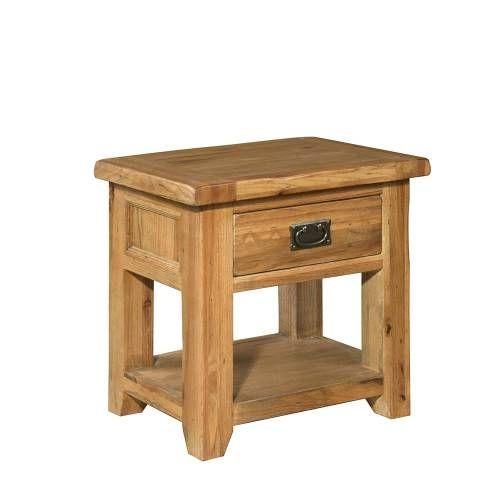 Cottage Oak 1 Drawer Bedside Table