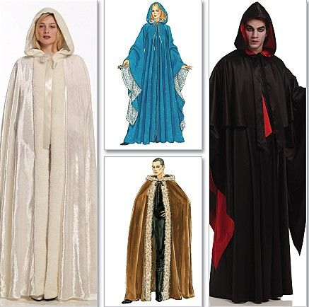 Gothic Cape Sewing Pattern Goth Costumes Unisex Dracula Capes
