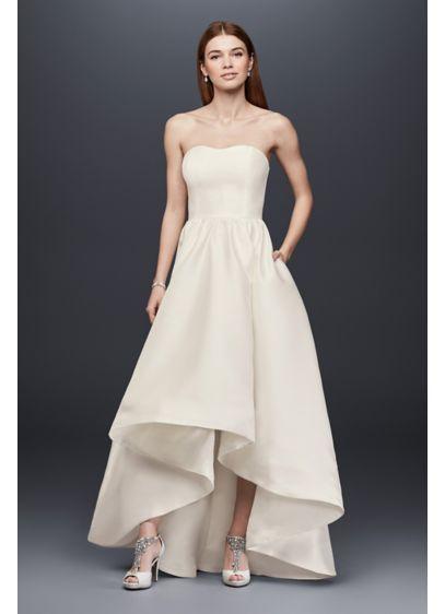 Mikado High Low Wedding Dress David S Bridal Wedding Dresses High Low Davids Bridal Wedding Dresses Sparkle Wedding Dress