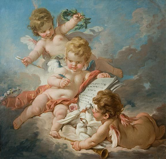 Francuzskoe Iskusstvo Amury Rococo Art Angel Painting Angel Art