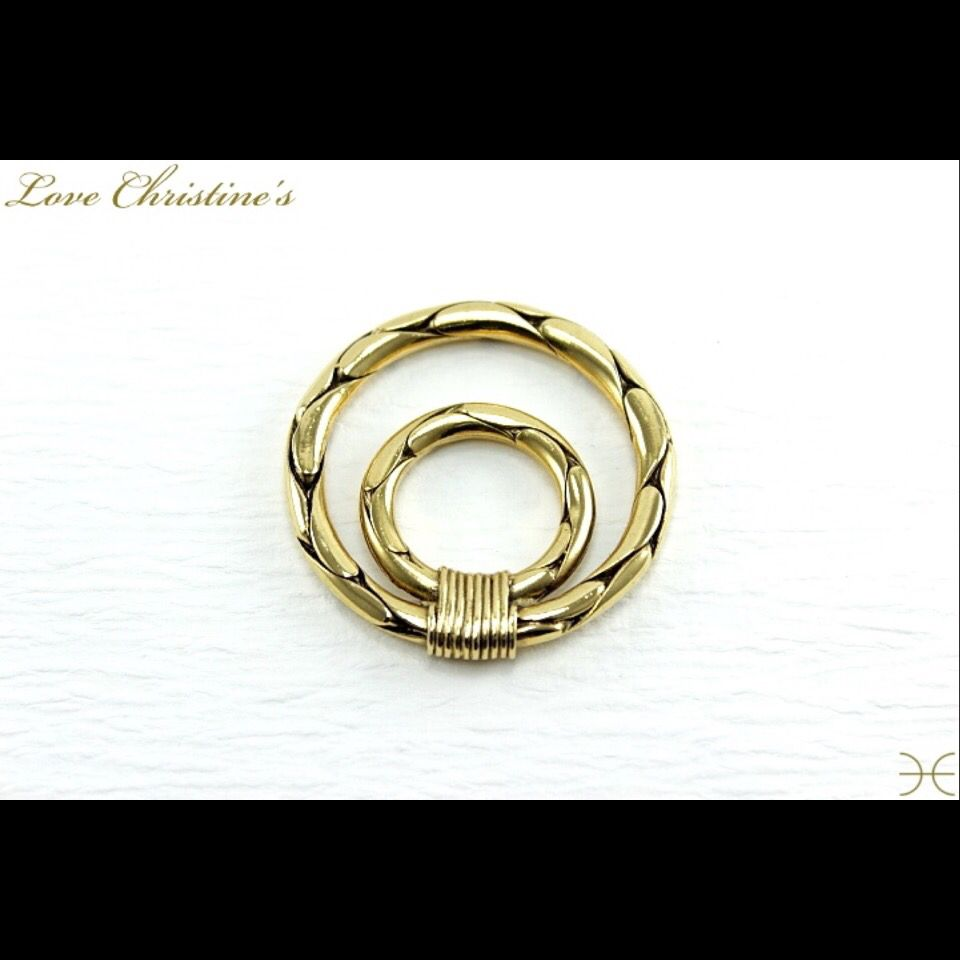 Vintage ysl scarf ring oceanides twist design usd