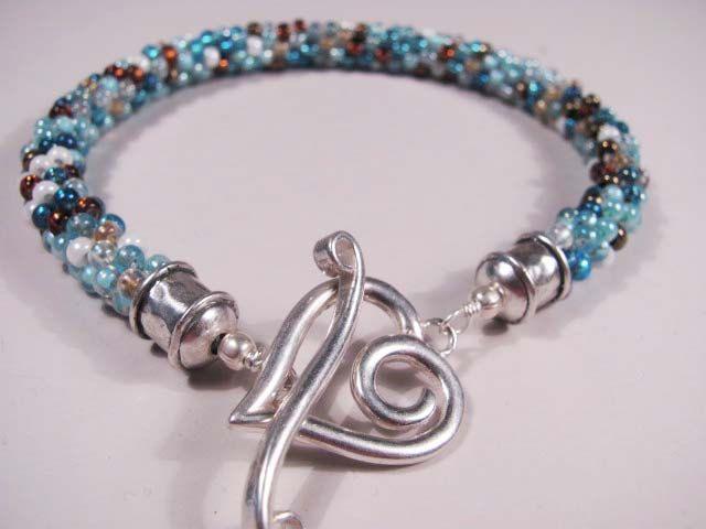 Southwestern Sparkle handmade Kumihimo bracelet unique beaded jewelry by Ema K SRA OOAK. $45.00, via Etsy.