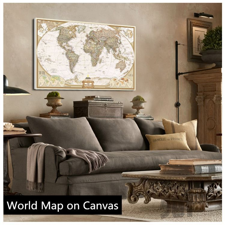 Canvas World Maps For Sale on