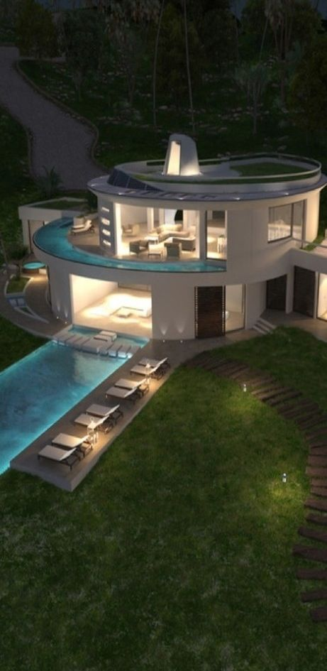 Pools on several levels # contemporary luxury# Would love one of these