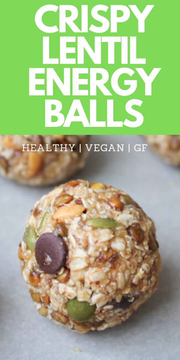 Crispy Lentil Energy Bites Vegan Gluten Free Snack Recipe In 2020 Vegan Gluten Free Snacks High Protein Vegan Snacks Vegan Recipes Healthy