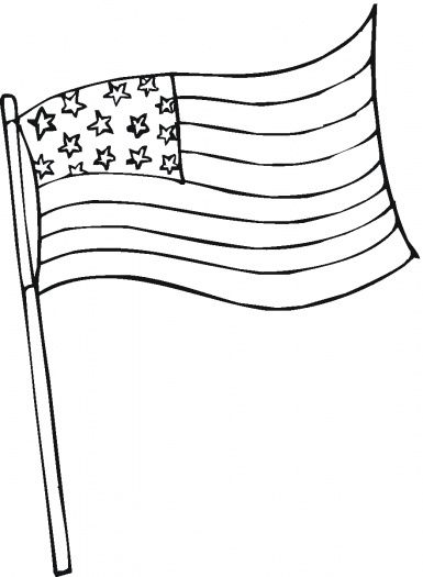 United States Of America Flag Coloring Page Printable