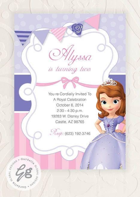 sofia the first invitation, sofia the first invite, sofia the, Party invitations