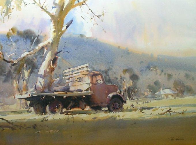 Workshops Exhibitions Watercolor Art Australian Painting Watercolor Landscape Paintings