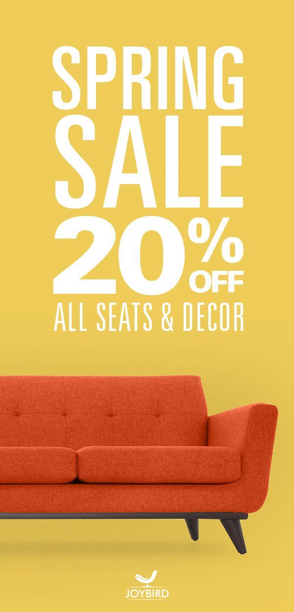 Why Be Generic When You Can Stand Out With Mid Century Modern Furniture From Joybird Take 20 Off Seats And Decor Right Joybird Joybird Furniture Spring Sale Mid century modern furniture sales