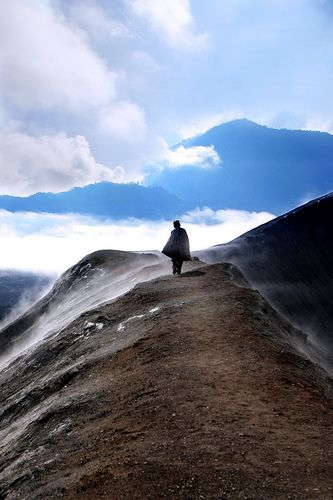 Top of Bromo Mountain in East Java, Indonesia
