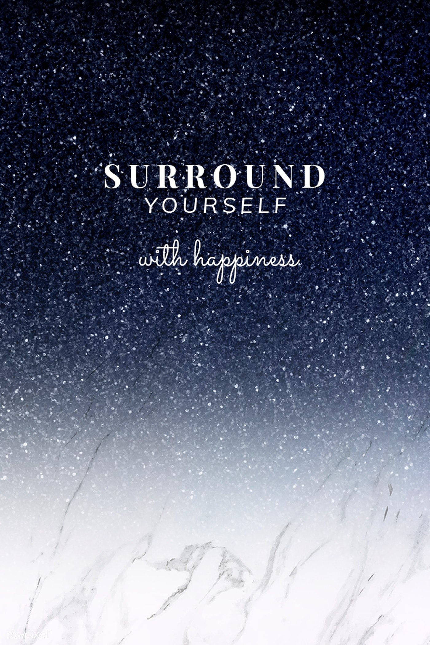 Surround yourself with happiness quote psd template  premium
