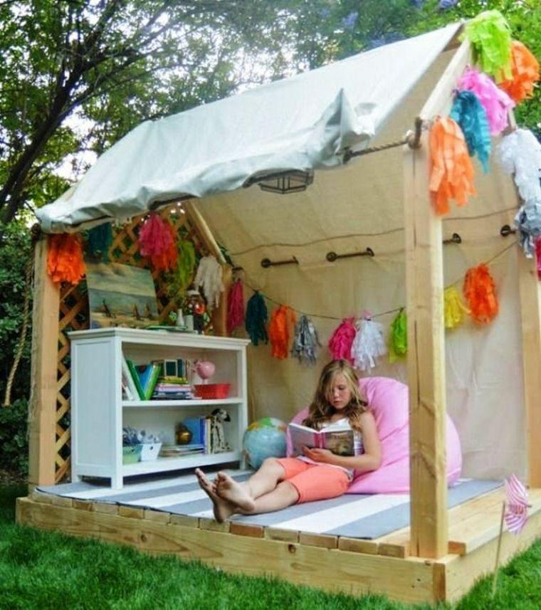 Casitas de jardin para niños - originales ideas inspiradoras Diy - casitas de jardin para nios