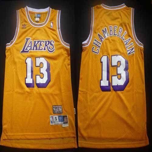 Lakers  13 Wilt Chamberlain Yellow Throwback Stitched  NBA Jersey from   49.99 9eee41d18
