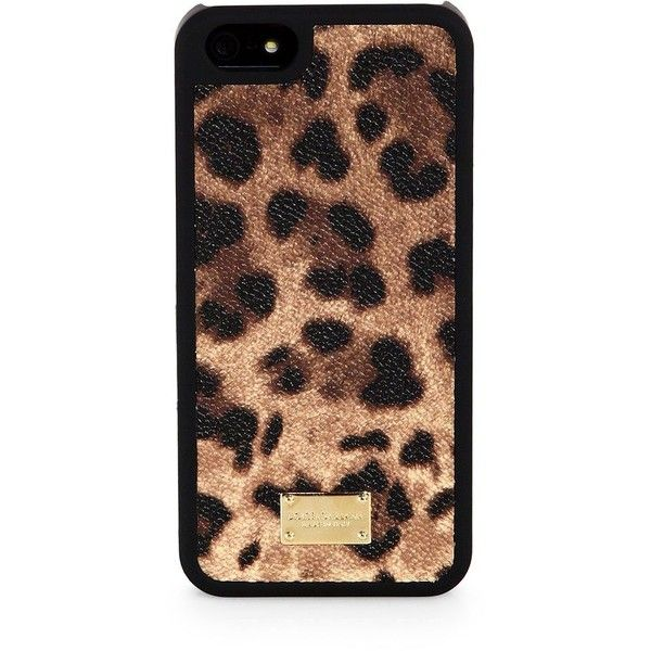 Dolce & Gabbana Leopard-Print iPhone 5 Case found on Polyvore ...