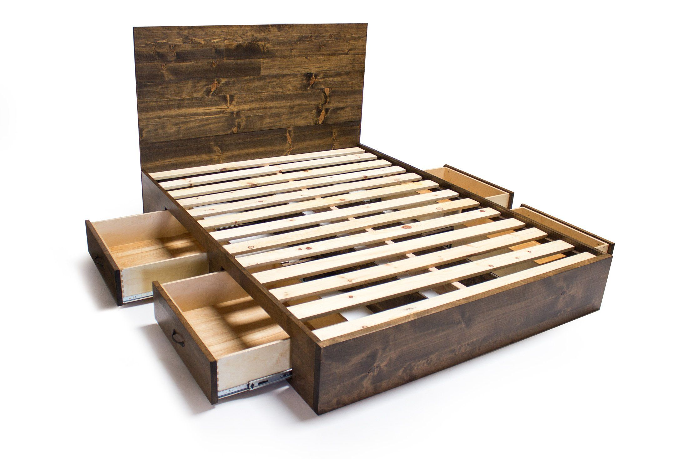 Wood Bed Frame Ideas - Camas - Pinterest - Frames