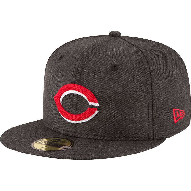 new product 44057 43004 Cincinnati Reds New Era Crisp 59FIFTY Fitted Hat - Heathered Black