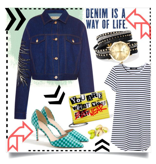 """""""Denim is a way of life."""" by mojosoignee ❤ liked on Polyvore featuring Emilio Pucci, J.Crew and Jimmy Choo"""