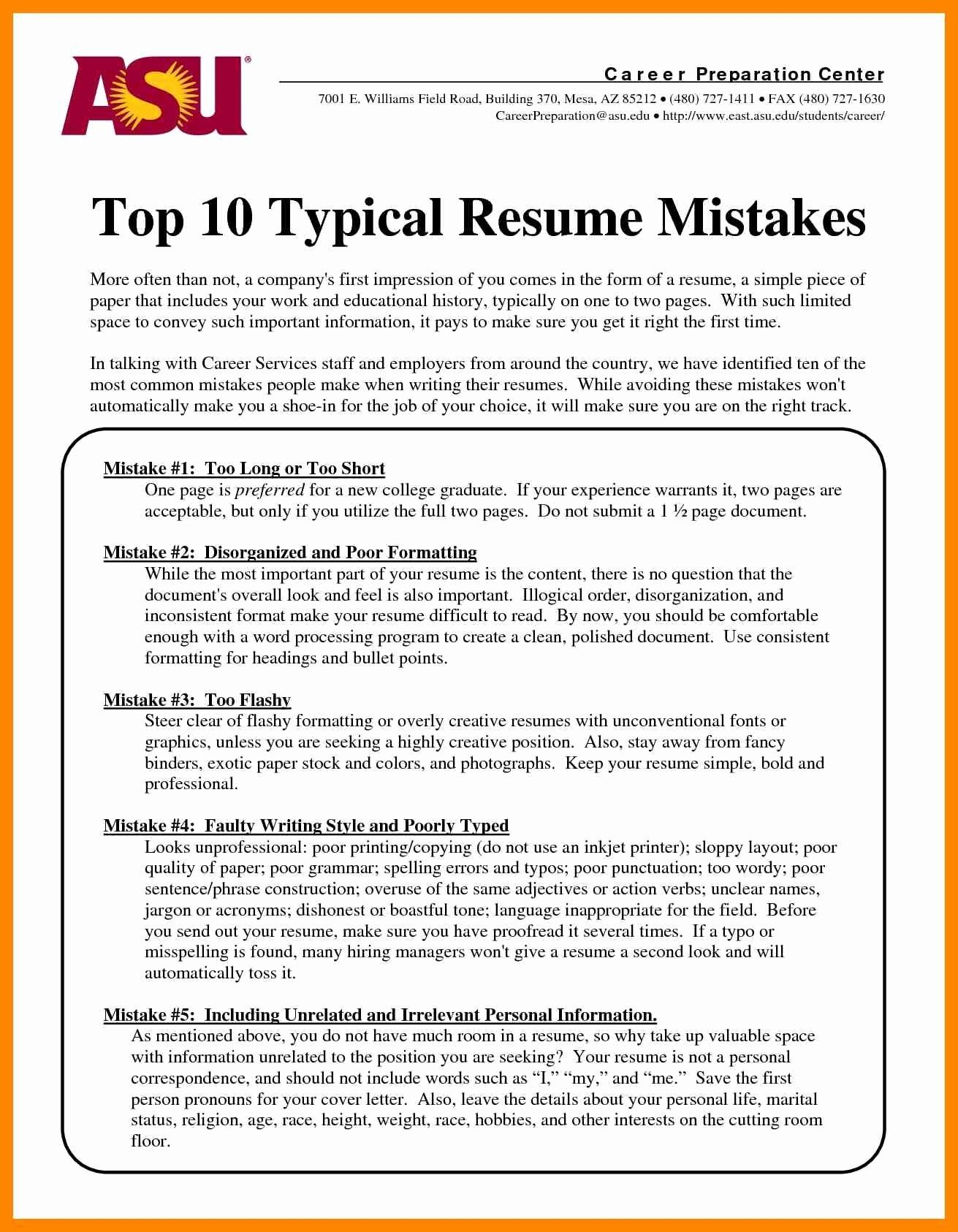 Does A Resume Have to Be One Page Inspirational Resume ...