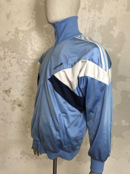 adias jacke grau retro blau