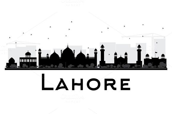 Lahore City Skyline Silhouette With Images City Skyline