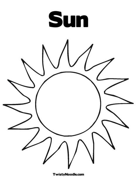Sun Templates Sun Coloring Pages