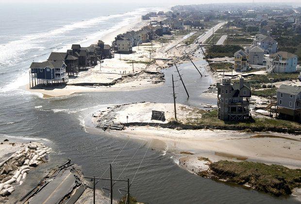 Outer Banks Nc Hurricane Damage Hurricane Arthur Made Landfall On North Carolina Coast Overnight North Carolina Coast North Carolina Beaches Outer Banks Nc