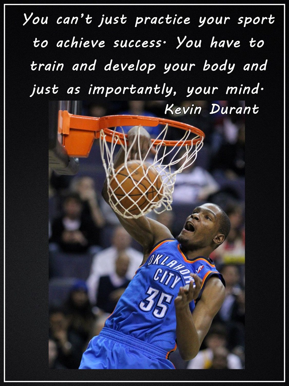 Kevin Durant Quote Poster Basketball Kevin Durant Oklahoma Thunder Nba Basketball