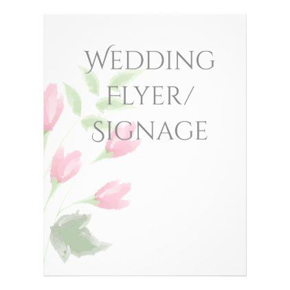 Watercolor Rose Buds Blank Wedding Flyer Weddings and Wedding - wedding flyer