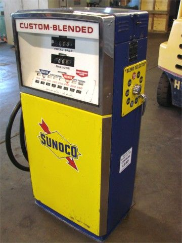Sunoco gas pump- I started pumping gas at my parents Sunoco