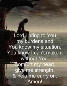 I keep praying, trusting you Lord, giving you these unspoken ...