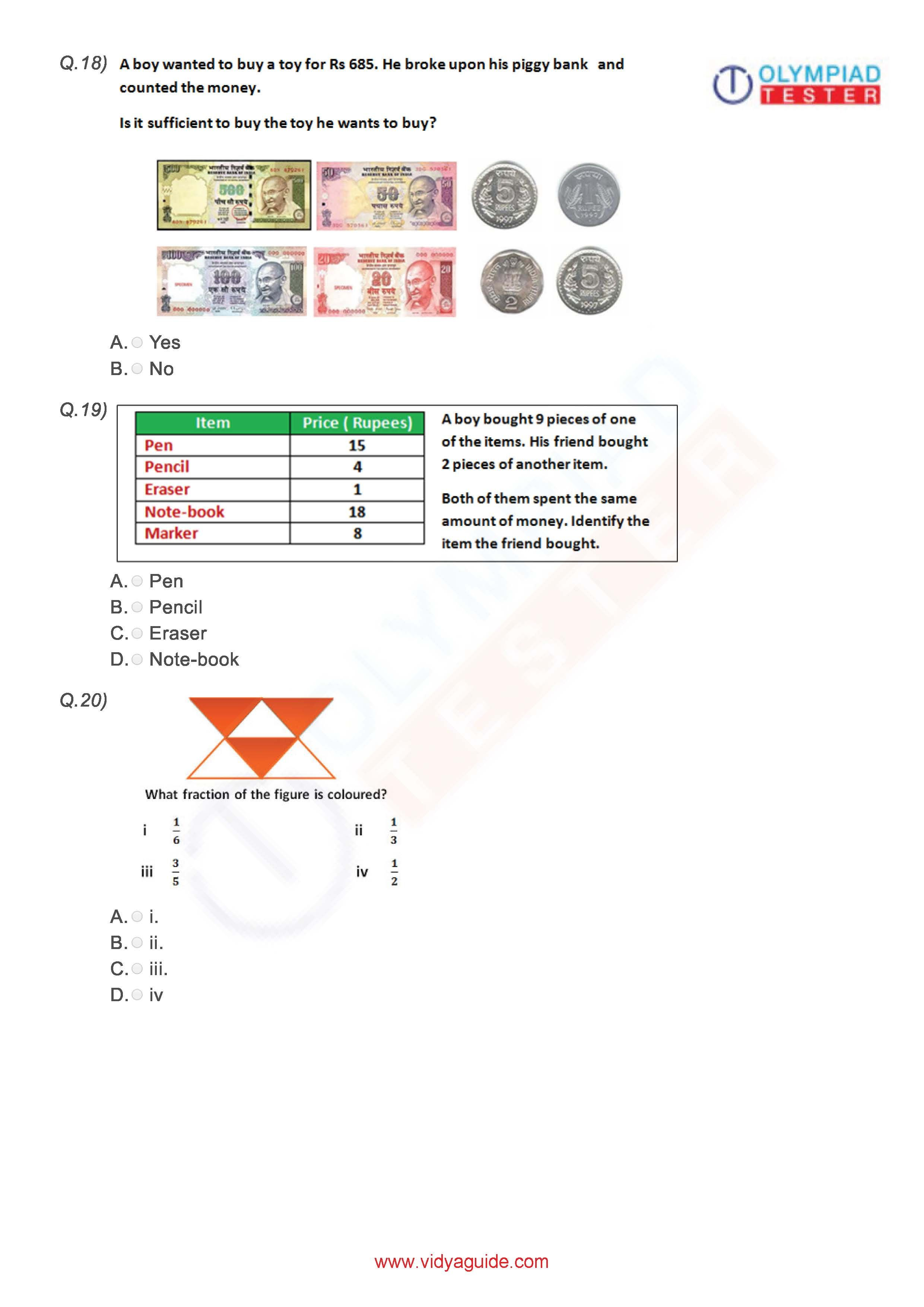 Class 3 Imo Worksheet 02